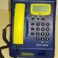Téléphones: CABINA TELEFÓNICA TÍPICA TELÉFONOS BAR AÑOS 80 90. TELEFÓNICA TELETUP MENSAJES. 2,1KG. Lote 266421128