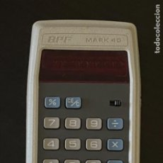 Antigüedades: CALCULADORA BPF MARK 40 LEDS ROJOS. Lote 266531418