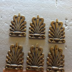 Antigüedades: LOTE 6 EMBELLECEDORES BRONCE ANTIGUOS. Lote 266538133