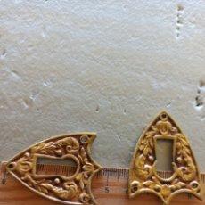 Antigüedades: 2 BOCA LLAVE EMBELLECEDORES BRONCE ANTIGUO. Lote 266542958
