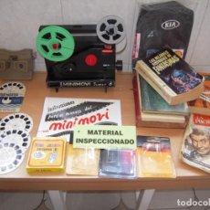 Oggetti Antichi: PROYECTOR CINE SUPER8 MINI MOVIE BIANCHI CON PELICULAS + VISOR 3D VIEW MASTER CON DISCOS + REGALOS!!. Lote 266710108