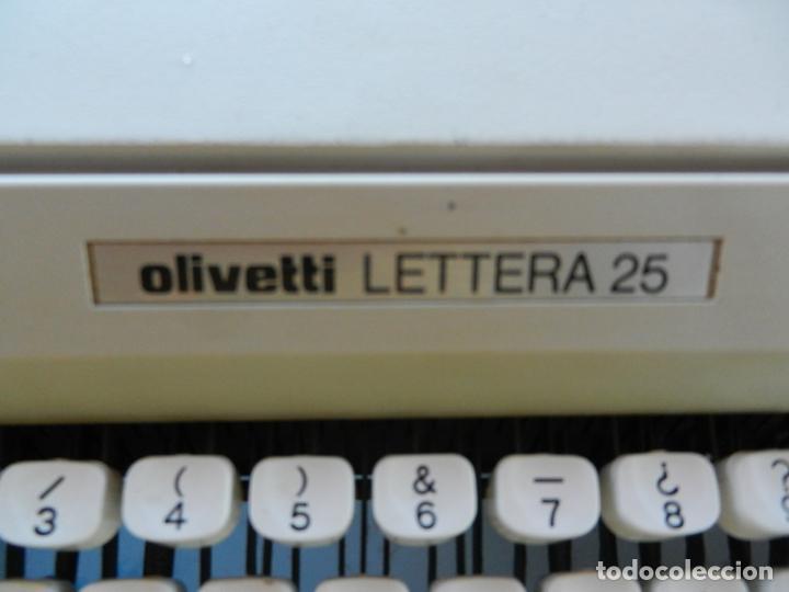 Antigüedades: OLIVETTI LETTERA 25 - ANTIGUA MÁQUINA DE ESCRIBIR - CON MALETA ORIGINAL. - Foto 3 - 266790469