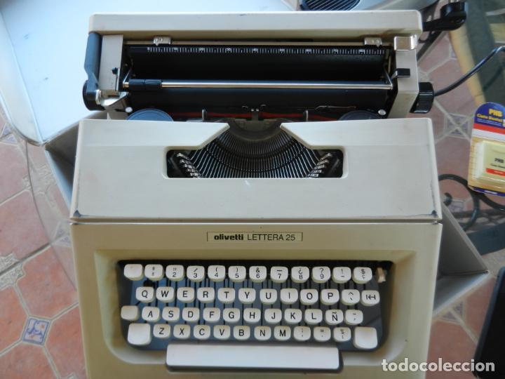 OLIVETTI LETTERA 25 - ANTIGUA MÁQUINA DE ESCRIBIR - CON MALETA ORIGINAL. (Antigüedades - Técnicas - Máquinas de Escribir Antiguas - Olivetti)