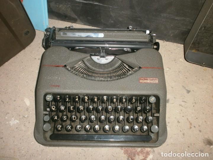 MÁQUINA DE ESCRIBIR PORTATIL HERMES BABY CON MALETIN HIERRO BUEN ESTADO MARCA SELLO GASPAR TRENET (Antigüedades - Técnicas - Máquinas de Escribir Antiguas - Continental)