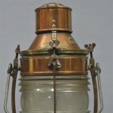Antigüedades: MAGNIFICO FAROL DE BARCO. TELFORD GRIER MACKAY. GLASGOW. Lote 266954959