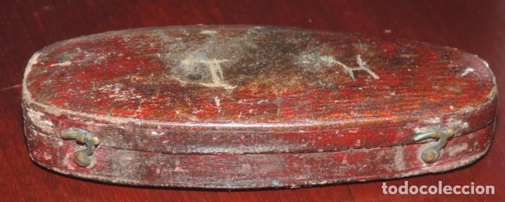 Antigüedades: English antique folding pocket compass. Circa 1900. In coffin case. Compas de excelente calidad en s - Foto 3 - 267010309