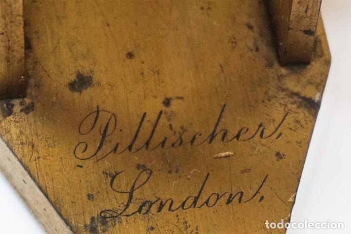 Antigüedades: ANTIGUO MICROSCOPIO INGLÉS PILLISCHER c.1860 - Foto 2 - 267165789