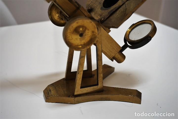 Antigüedades: ANTIGUO MICROSCOPIO INGLÉS PILLISCHER c.1860 - Foto 4 - 267165789