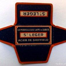 Antiquités: HOJA DE AFEITAR ANTIGUA,ST.LEGER,ACIER DE SHEFFIELD.. Lote 267180409
