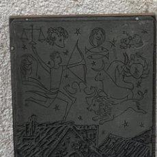 Antigüedades: PLANCHA IMPRENTA ILUSTRACION ILUSTRADOR LIBRO GRABADO IMPRESION 17X14CMS. Lote 267251659