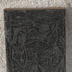 Antigüedades: PLANCHA IMPRENTA ILUSTRACION ILUSTRADOR LIBRO GRABADO IMPRESION MATEO 19X13CMS. Lote 267253114
