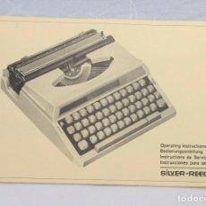 Antigüedades: MANUAL INSTRUCCIONES DE MÁQUINAS DE ESCRIBIR SILVER REED 1970'S. Lote 267545379