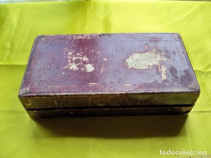 Antigüedades: Antiguo suavizador de cuchillas de afeitar ALLEGRO made in Switzerland en caja original - Foto 5 - 267568634