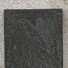 Antigüedades: PLANCHA IMPRENTA ILUSTRACION ILUSTRADOR LIBRO GRABADO IMPRESION MATEO 17X13,5CMS. Lote 267627299