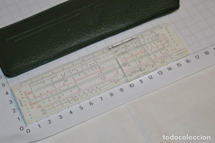 Antigüedades: Regla de Cálculo FABER-CASTELL 67/54 B - Funda original - Calculadora SLIDE RULE / RECHENSCHIEBER - Foto 4 - 267664194