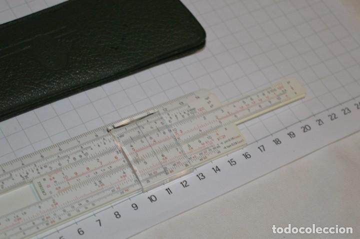 Antigüedades: Regla de Cálculo FABER-CASTELL 67/54 B - Funda original - Calculadora SLIDE RULE / RECHENSCHIEBER - Foto 6 - 267664194