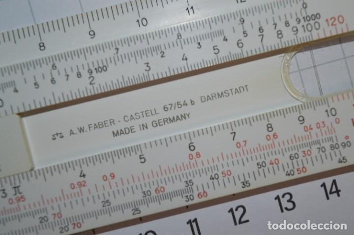 Antigüedades: Regla de Cálculo FABER-CASTELL 67/54 B - Funda original - Calculadora SLIDE RULE / RECHENSCHIEBER - Foto 7 - 267664194