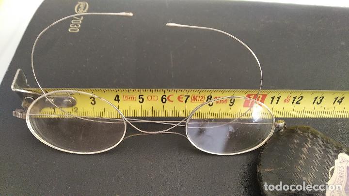 Antigüedades: Gafas antiguas funda original siglo xix buena conservacion - Foto 8 - 191839812