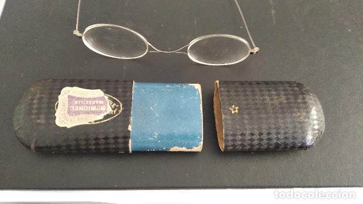 Antigüedades: Gafas antiguas funda original siglo xix buena conservacion - Foto 9 - 191839812