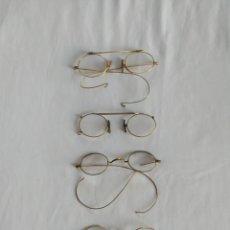 Antiquités: LOTE GAFAS ANTIGUAS (QUEVEDOS).ALGUNAS PARA RESTAURAR.. Lote 267811349