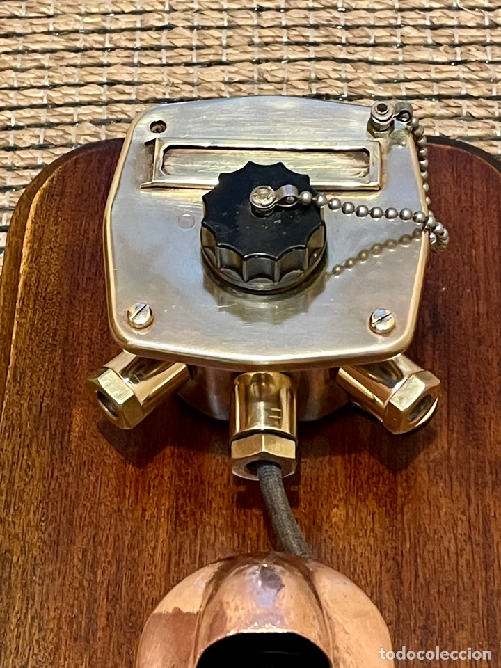 Antigüedades: ANTIGUO TELÉFONO DE BARCO , DEL AÑO 1940-50 - Foto 7 - 267815499