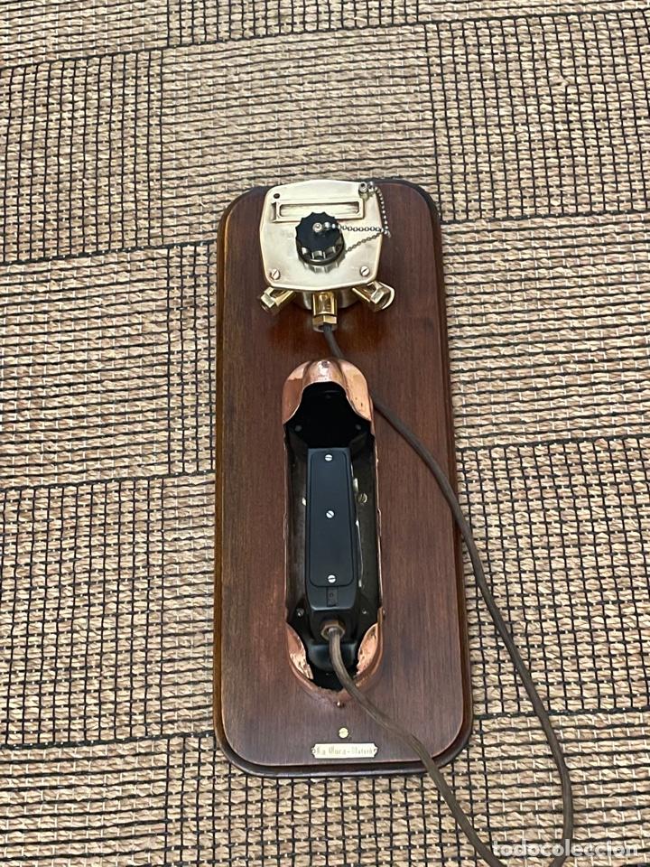 Antigüedades: ANTIGUO TELÉFONO DE BARCO , DEL AÑO 1940-50 - Foto 8 - 267815499