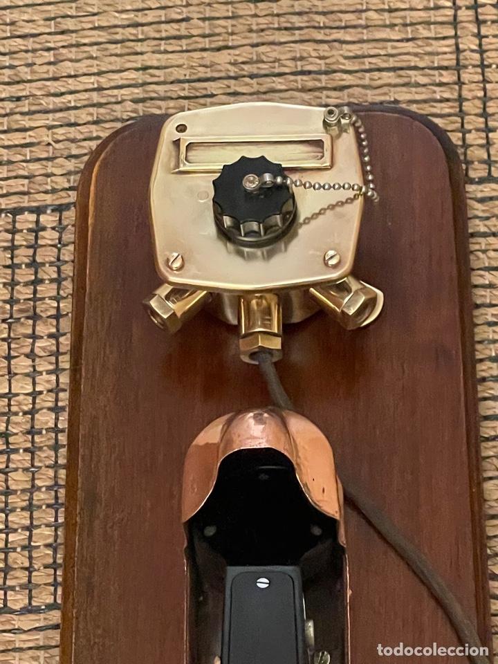 Antigüedades: ANTIGUO TELÉFONO DE BARCO , DEL AÑO 1940-50 - Foto 9 - 267815499