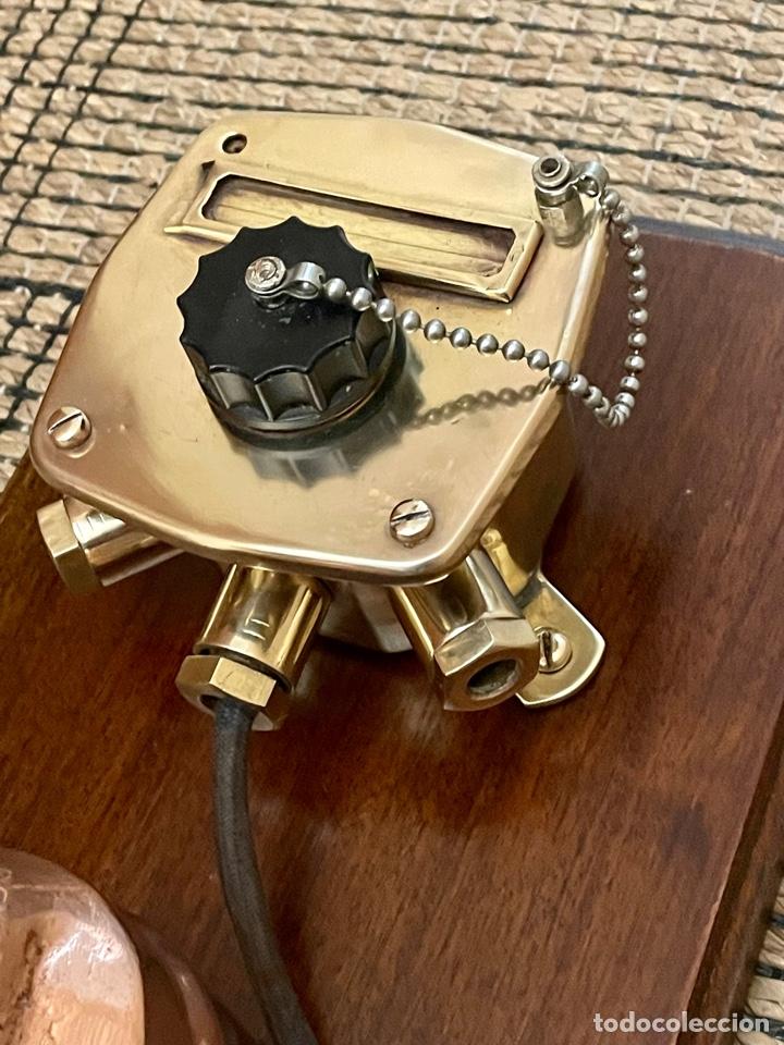Antigüedades: ANTIGUO TELÉFONO DE BARCO , DEL AÑO 1940-50 - Foto 10 - 267815499