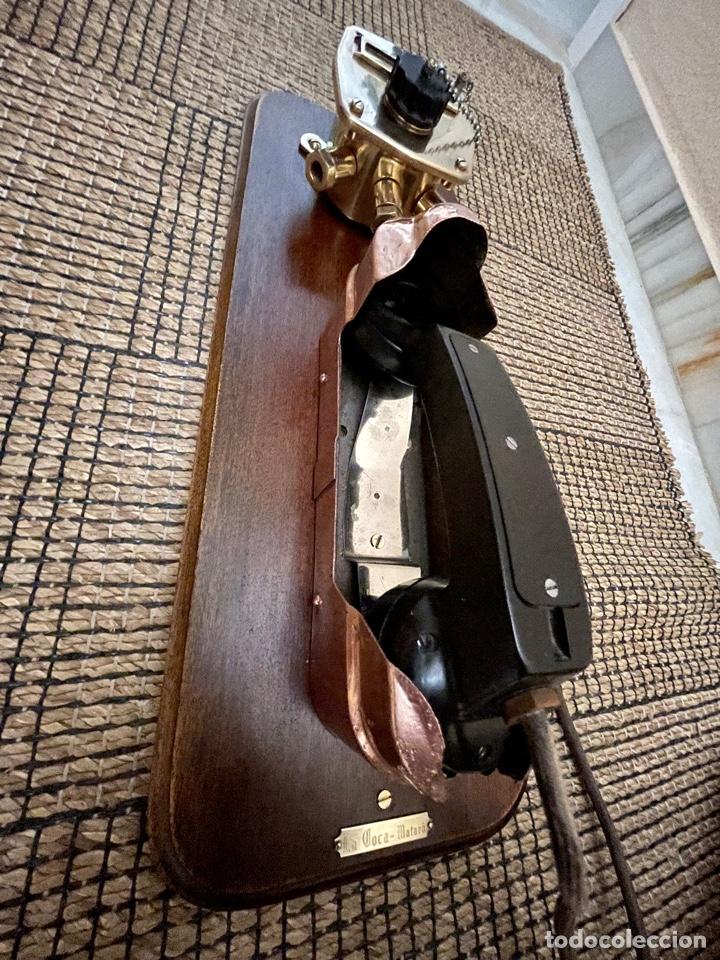 Antigüedades: ANTIGUO TELÉFONO DE BARCO , DEL AÑO 1940-50 - Foto 15 - 267815499