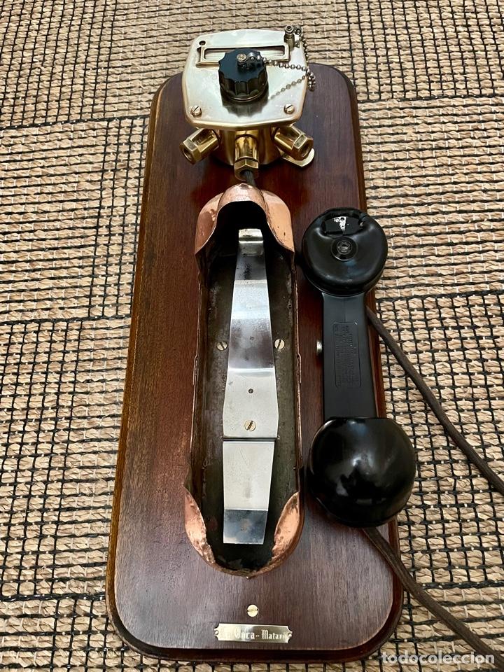 Antigüedades: ANTIGUO TELÉFONO DE BARCO , DEL AÑO 1940-50 - Foto 22 - 267815499