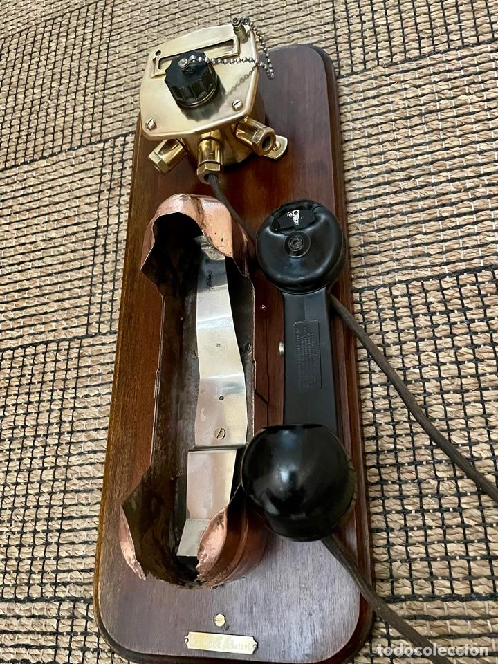 Antigüedades: ANTIGUO TELÉFONO DE BARCO , DEL AÑO 1940-50 - Foto 23 - 267815499