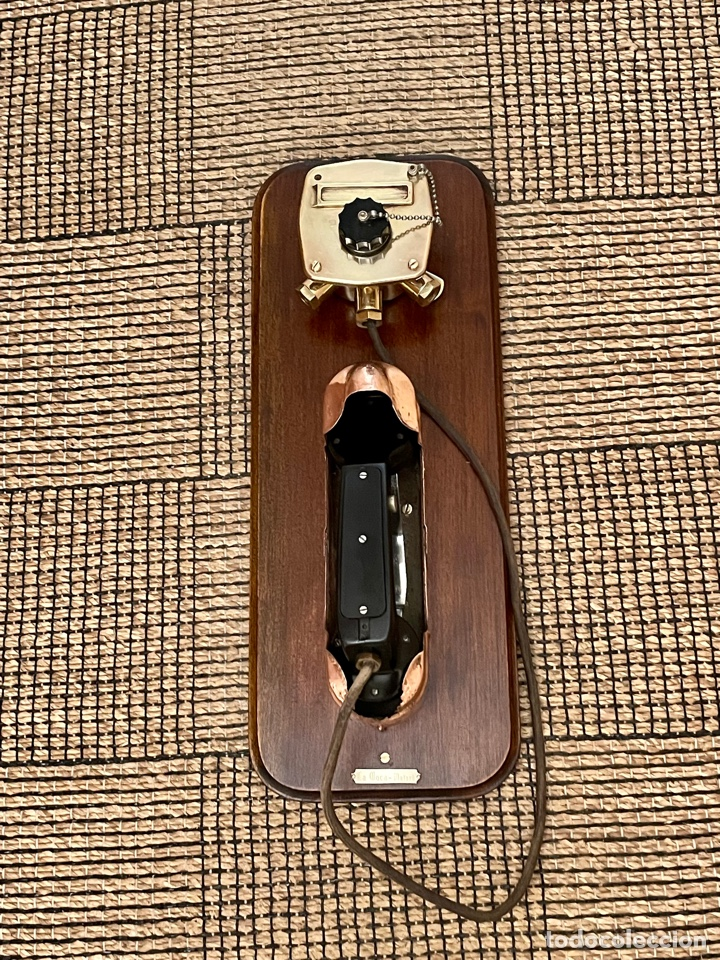 Antigüedades: ANTIGUO TELÉFONO DE BARCO , DEL AÑO 1940-50 - Foto 24 - 267815499