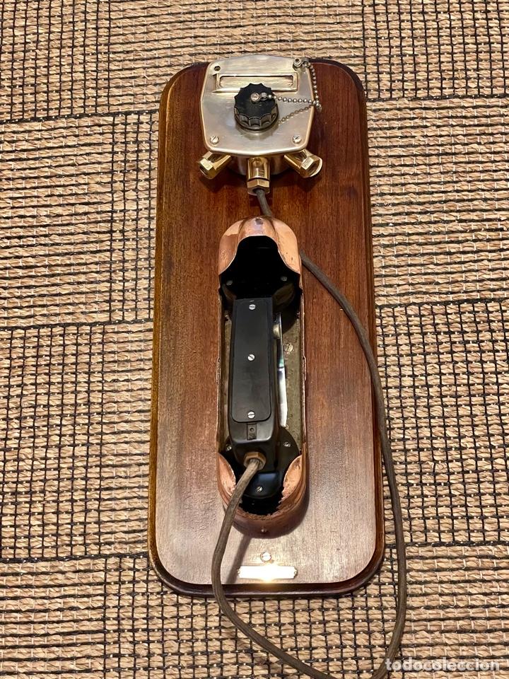 Antigüedades: ANTIGUO TELÉFONO DE BARCO , DEL AÑO 1940-50 - Foto 25 - 267815499
