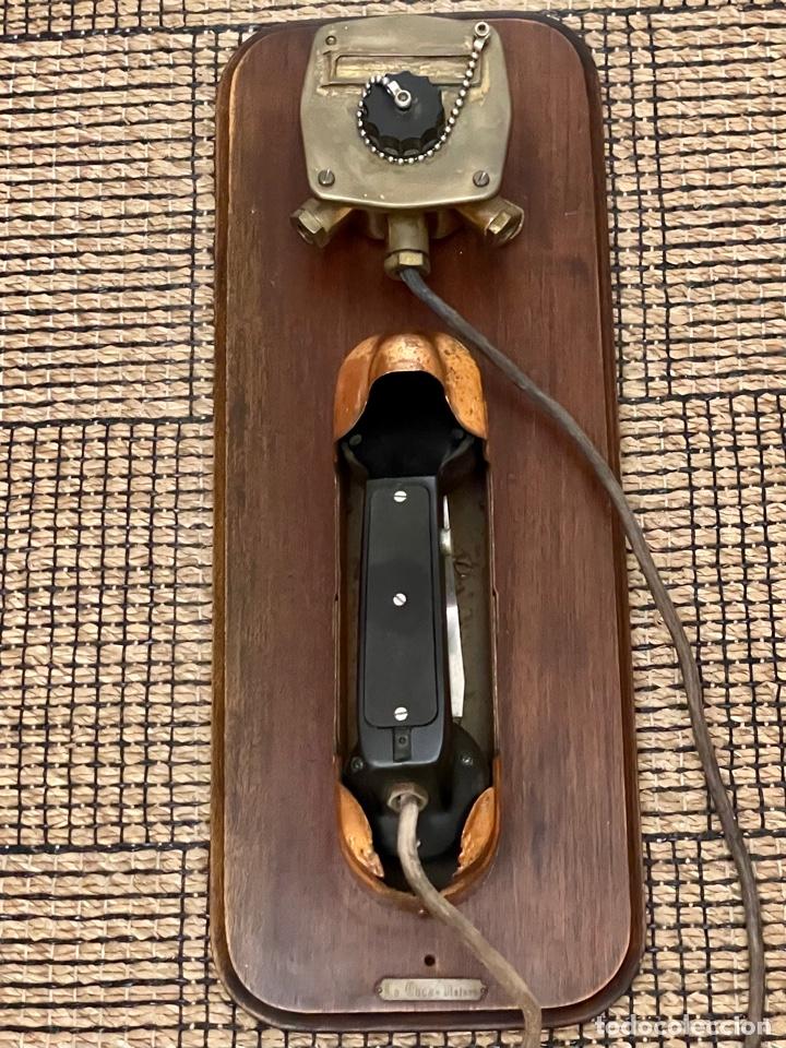 Antigüedades: ANTIGUO TELÉFONO DE BARCO , DEL AÑO 1940-50 - Foto 29 - 267815499
