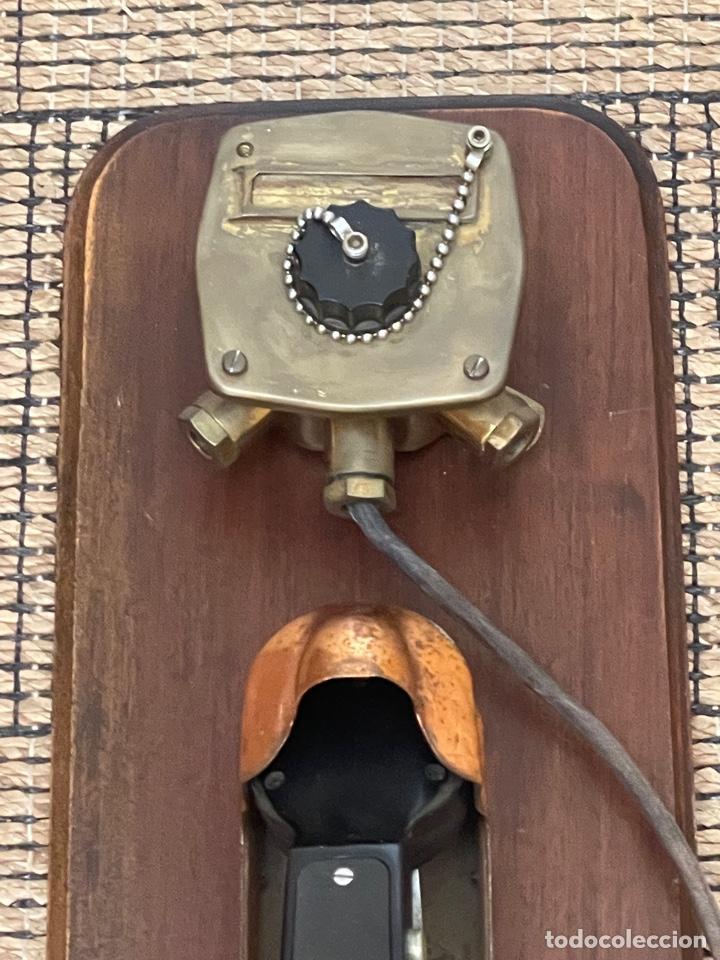 Antigüedades: ANTIGUO TELÉFONO DE BARCO , DEL AÑO 1940-50 - Foto 30 - 267815499