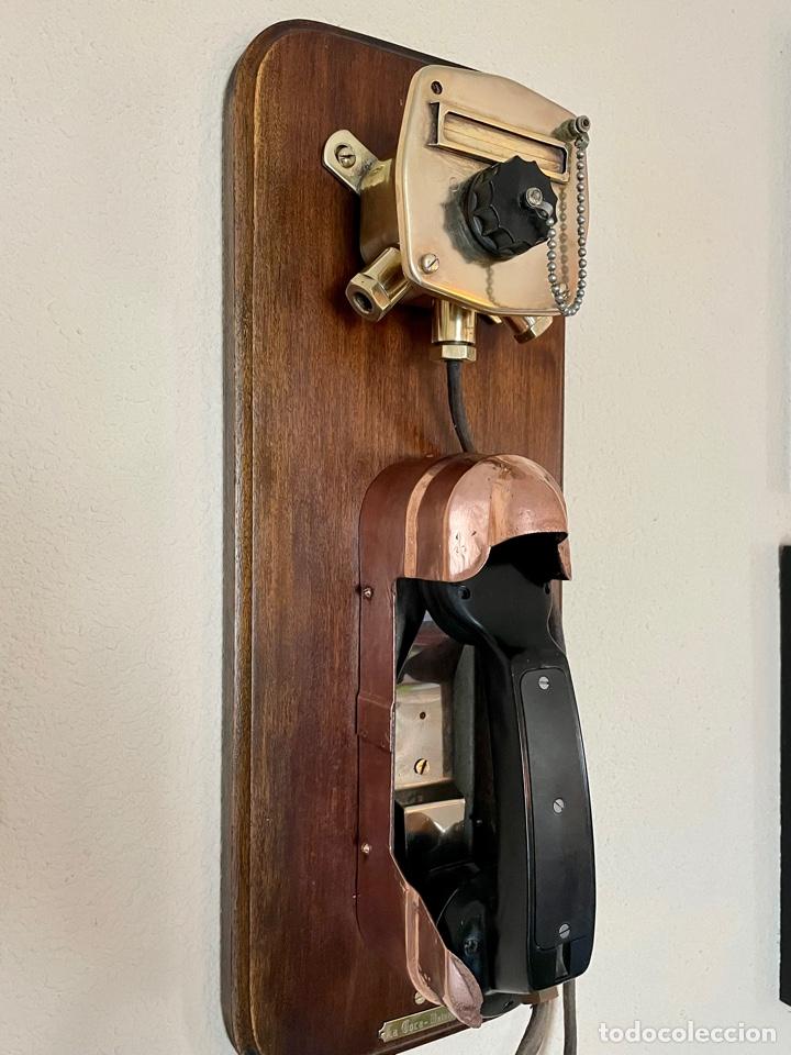 Antigüedades: ANTIGUO TELÉFONO DE BARCO , DEL AÑO 1940-50 - Foto 4 - 267815499