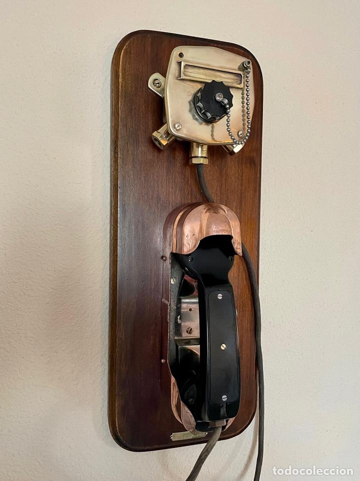 ANTIGUO TELÉFONO DE BARCO , DEL AÑO 1940-50 (Antigüedades - Antigüedades Técnicas - Marinas y Navales)
