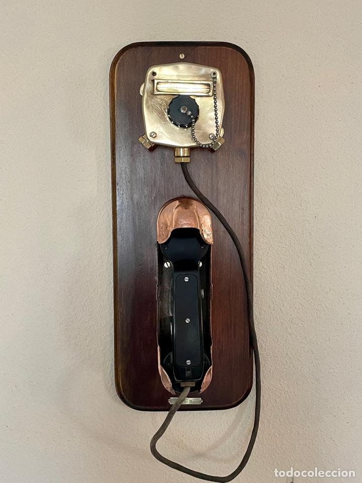 Antigüedades: ANTIGUO TELÉFONO DE BARCO , DEL AÑO 1940-50 - Foto 3 - 267815499