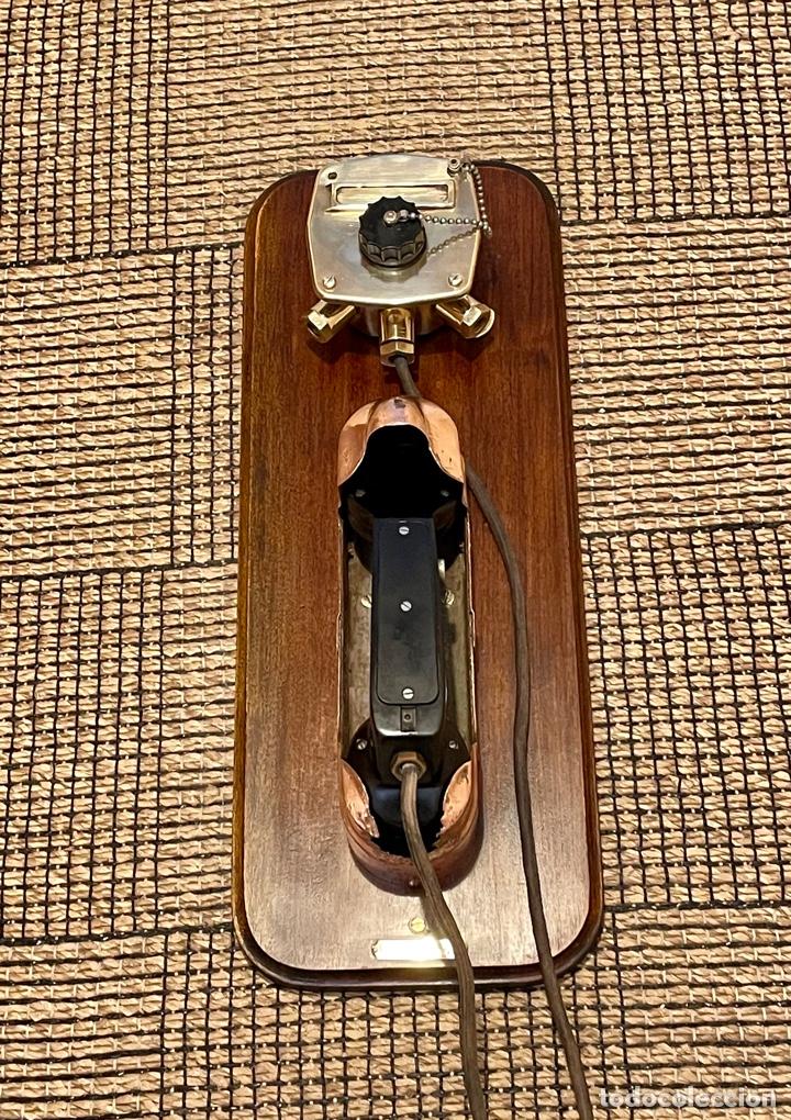 Antigüedades: ANTIGUO TELÉFONO DE BARCO , DEL AÑO 1940-50 - Foto 2 - 267815499