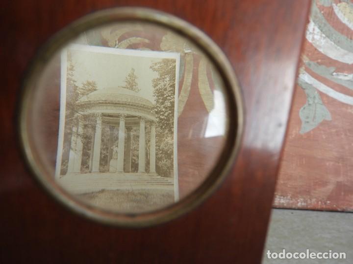 Antigüedades: ESTEROSCOPIO ANTIGUO DE MADERA CON FOTOS DE PARIS - Foto 2 - 267858909