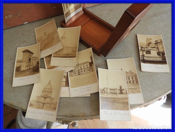 Antigüedades: ESTEROSCOPIO ANTIGUO DE MADERA CON FOTOS DE PARIS - Foto 4 - 267858909