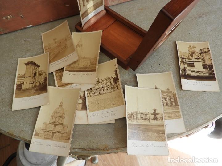 Antigüedades: ESTEROSCOPIO ANTIGUO DE MADERA CON FOTOS DE PARIS - Foto 5 - 267858909