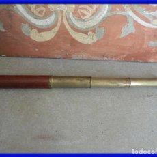 Antigüedades: CATALEJO ANTIGUO DE BRONCE Y MADERA DE VARIAS LENTES. Lote 267858974