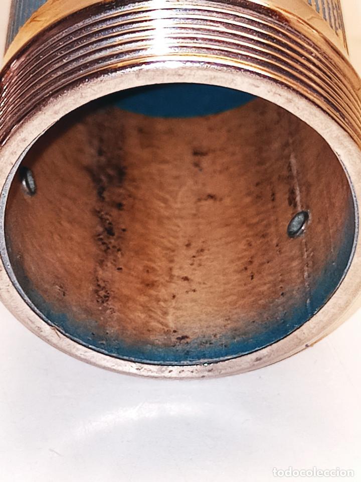 Antigüedades: LINERNA BOND ELECTRIC CORP. MADE IN U.S.A. ORIGINAL. 18 CTMS. FUNCIONANDO. CRISTAL LUPA MACIZO. FOTO - Foto 11 - 267883464