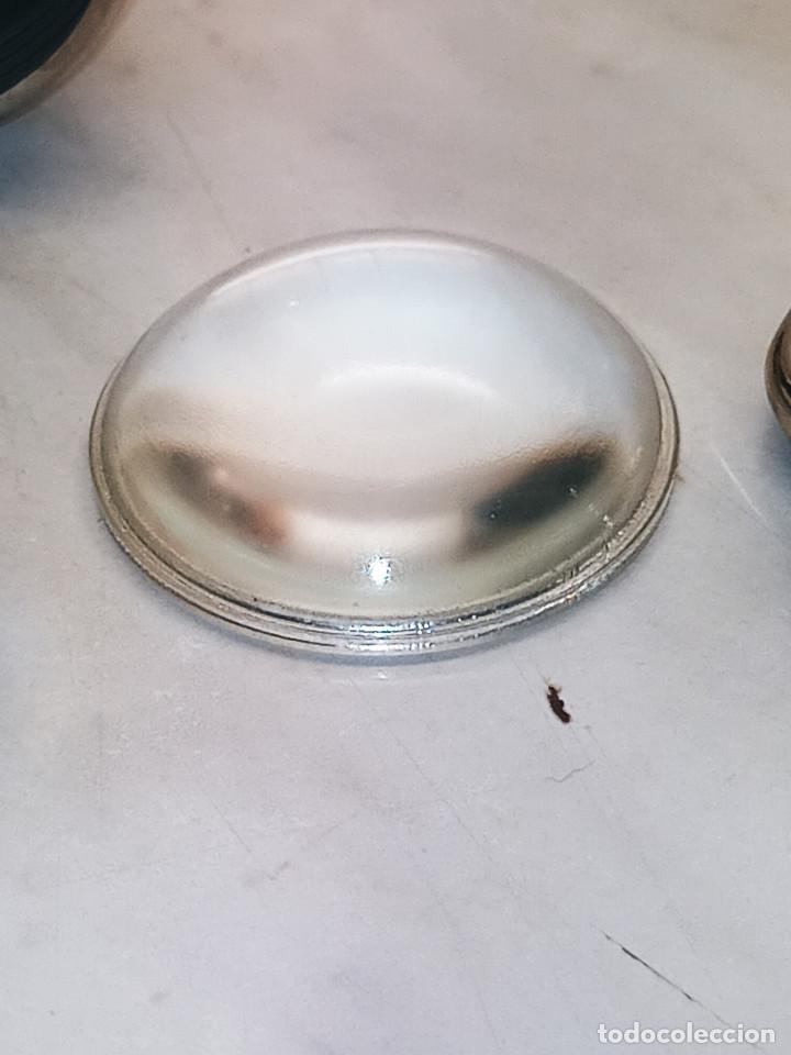 Antigüedades: LINERNA BOND ELECTRIC CORP. MADE IN U.S.A. ORIGINAL. 18 CTMS. FUNCIONANDO. CRISTAL LUPA MACIZO. FOTO - Foto 13 - 267883464