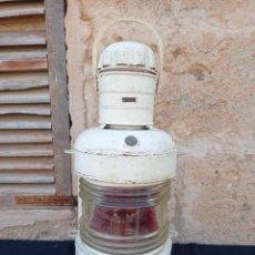Antiquités: ANTIGUO FAROL DE BARCO DE BABOR LUZ ROJA. Lote 267896859