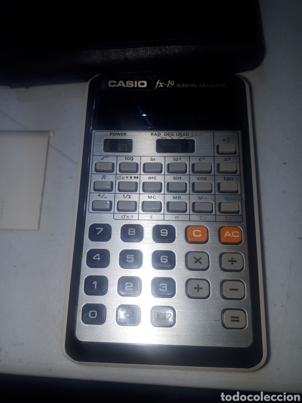 Antigüedades: Antigua calculadora científica CASIO FX 19 con funda leer descripción - Foto 2 - 268132629