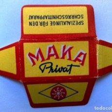 Antiquités: HOJA DE AFEITAR ANTIGUA,MAKA PRIVAT.. Lote 268420119