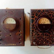 Antigüedades: ELEVADOR VOLTÍMETRO DE POTENCIA ALCER Ó ELECTRINA. Lote 268444354
