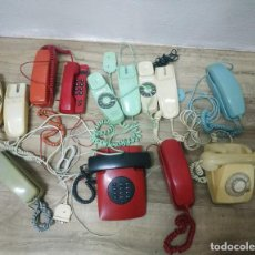 Telefones: TELEFONOS VINTAGE LOTE TELÉFONOS ANTIGUOS DIFERENTES COLORES Y MODELOS.. Lote 268471259